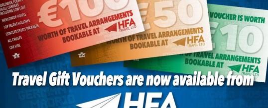 HFA Travel Gift Vouchers
